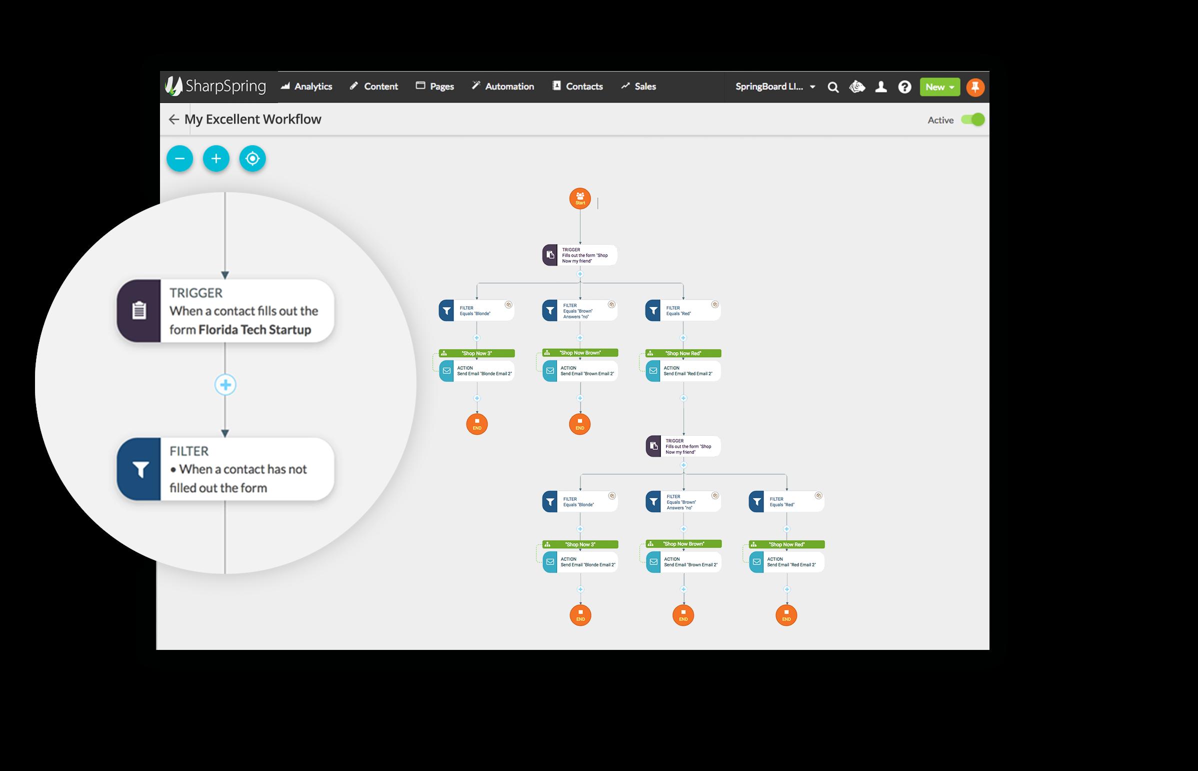 Visual Workflow Builder